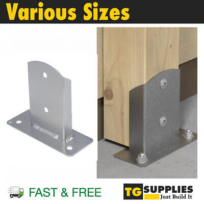 £8.99 • Buy Pergola Post Support Post Bracket Fence Foot Post Base Bolt Down One Side