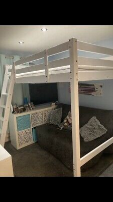 £100 • Buy Ikea Double Loft Bed With Mattress