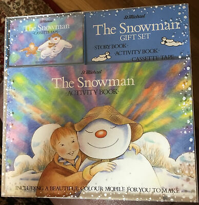 £6.49 • Buy Raymond Briggs The Snowman Vintage Story Book, Activity Book And Cassette Tape