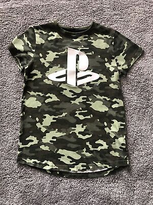 £2.50 • Buy Next Boys Playstation Green Camouflage T-Shirt 10 Years Excellent Condition