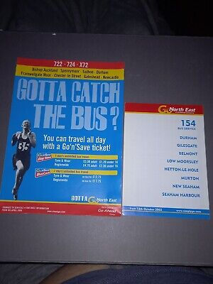 £1.25 • Buy Go North East Service 154 722 724 X72 Bus Timetables