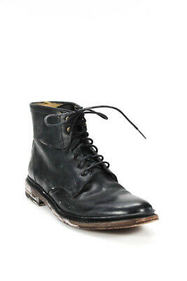 $49.99 • Buy John A Frye Mens Lace Up Round Toe Ankle Boots Black Leather Size 8.5 B