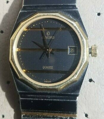$799 • Buy Concord Mariner SG Black Stainless Steel Black Dial Gold Tone Bezel Swiss Made