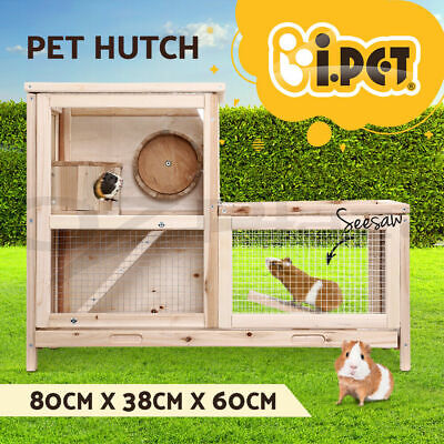 £12.09 • Buy I.Pet Rabbit Guinea Pig Ferret Rodents Hutch Hutches Wooden Cage Running