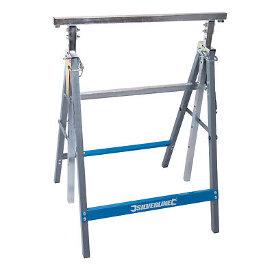 AU79.08 • Buy 810mm 1300mm Height Adjustable Trestle Steel Workbench Extension Support Stand