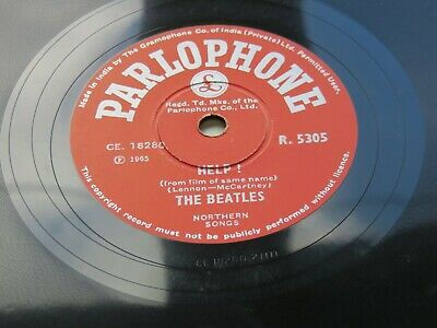 £2500 • Buy The Beatles  Help !  1965   Indian 78  Parlophone  R.5160 Made In India