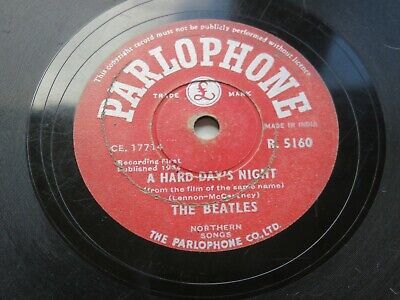 £1500 • Buy The Beatles  A Hard Days Night 1964  Indian 78  Parlophone  R.5160 Made In India