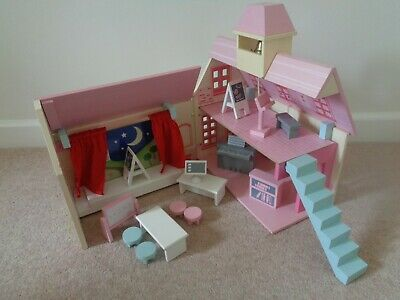 £20 • Buy ELC Rosebud School With Furniture Wooden Toy Dolls House