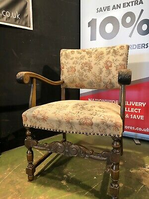 £55 • Buy Can Deliver French Oak Country Farmhouse Carver Chair Bedroom Throne