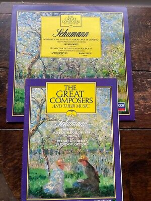 £4 • Buy Schumann  - The Great Composers 7 Symphony No 1 In B Flat Majo Vinyl Lp And Book
