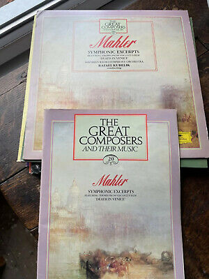 £2.50 • Buy Mahler - The Great Composers 20. Symphonic Excerpts Lp & Book.Death In Venice.