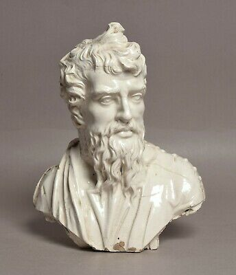 £34 • Buy Highly Unusual Antique 19thc Staffordshire Pottery Figure Bust Of Plato