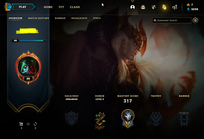 £13.70 • Buy League Of Legends Account | LoL Acc | NA | Unranked | 124 Champ 91 Skins