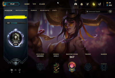 £13.70 • Buy League Of Legends Account | LoL Acc | NA | Unranked | 133 Champ 73 Skins