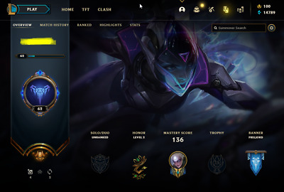 £13.70 • Buy League Of Legends Account | LoL Acc | NA | Unranked | 131 Champ 88 Skins