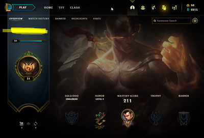 £12.26 • Buy League Of Legends Account | LoL Acc | NA | Unranked | 114 Champ 79 Skins