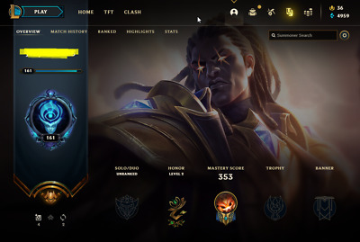 £13.70 • Buy League Of Legends Account | LoL Acc | NA | Unranked | 132 Champ 76 Skins
