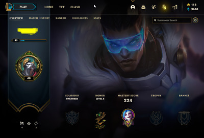 £13.70 • Buy League Of Legends Account | LoL Acc | NA | Unranked | 138 Champ 89 Skins