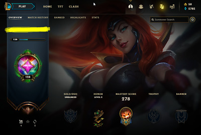 £10.82 • Buy League Of Legends Account | LoL Acc | NA | Unranked | 110 Champ 61 Skins