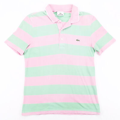 £17.95 • Buy LACOSTE Pink 00s Short Sleeve Polo Shirt S