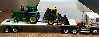 $19.95 • Buy Winross Mack CH600 Wengers Farm & Construction Tractor/Flatbed Trailer