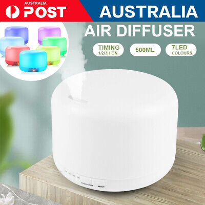 AU22.36 • Buy  LED Air Humidifier Purifier Essential Oil Aroma Diffuser Aromatherapy Lamp 500m