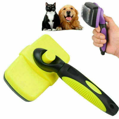 £6.95 • Buy Self Cleaning Pet Dog Cat Slicker Brush Grooming For Medium And Long Hair Pets