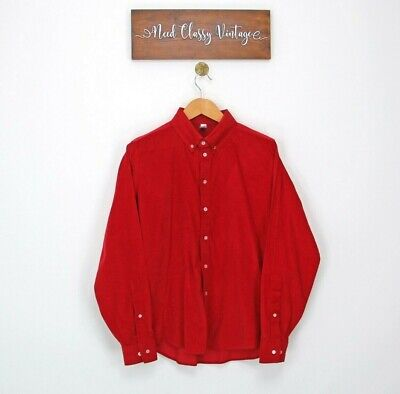 £15 • Buy Corduroy Shirt Mens Button Up Collared Long Sleeve Size S Small