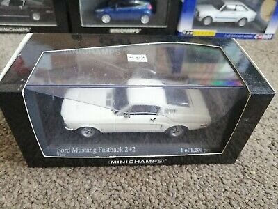 £40 • Buy Minichamps Ford Mustang Fastback 2+2 1968 White 1:43 Mint Boxed 1 Of 1200