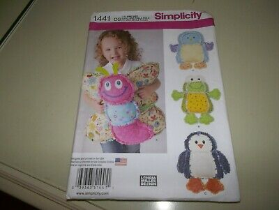 £1.50 • Buy Simplicity Rag Quilted Animal Pillows   Sewing Pattern NEW