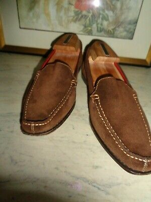 $21 • Buy Coach Men's Brown Leather Suede Boat, Loafers Shoes Size - 7B