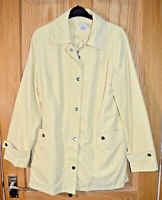 £0.99 • Buy Ex Catalog Women's Soft Shell Lined Jacket Pale Yellow Coat Size 10 - 12