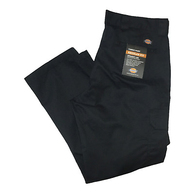 $26 • Buy Dickies Men's Relaxed Straight-Fit Cargo Work Pant Black 38x30