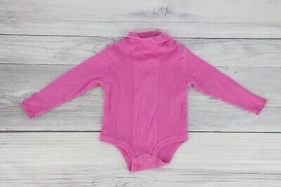 £7.25 • Buy Kid Connection Baby Girl Body Suit One Piece Turtleneck Top Shirt 24 Months Pink