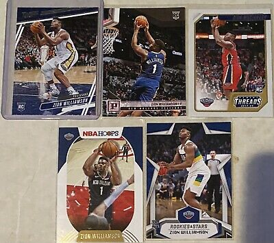 $15.10 • Buy 🔥Zion Williamson 5 Rookie Card Lot New Orleans Pelicans Threads Chronicles ROTY