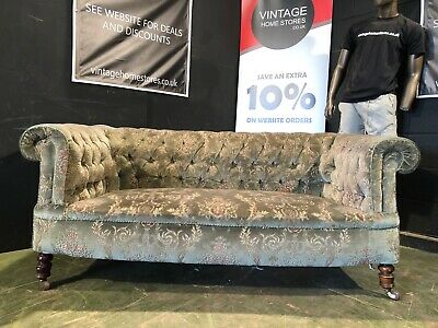 £195 • Buy Can Deliver Antique Edwardian Chesterfield Sofa Country House Chic Style