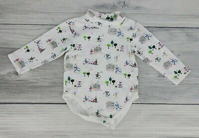 £7.25 • Buy Baby Girls Long Sleeve Turtleneck One Piece Bodysuit Size 18 Months White