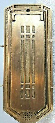$49.95 • Buy Vintage Arts & Crafts/mission Style Brass Door Drop Mail Slot American Device Co