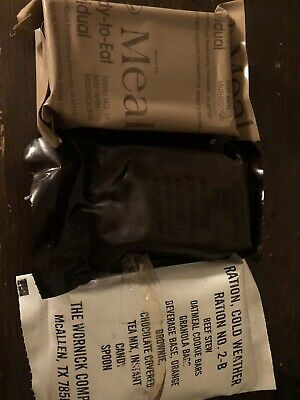 $20.50 • Buy Vintage NOS MRE Us Military Combat Ration Lot Cold Weather  And More