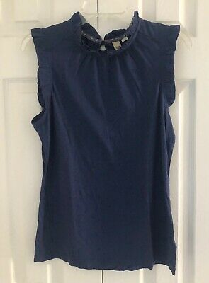 $ CDN38.69 • Buy NWT ANTHROPOLOGIE RIC RAC Sleeveless Top With Ruffle Details - Size M