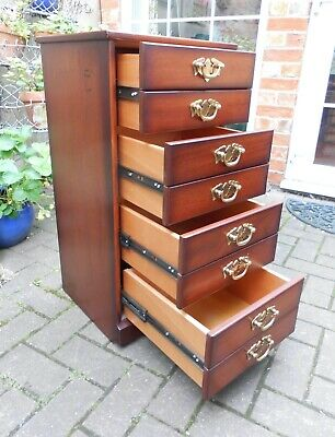 £95 • Buy John Austin Mahogany 4-drawer Chest~filing/collector's Cabinet~bedside~study