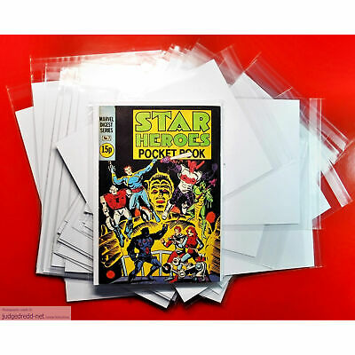 £8.50 • Buy Star Heroes Marvel Pocket Book Size1  Comic Bags And Boards/Backing Sheets X 10