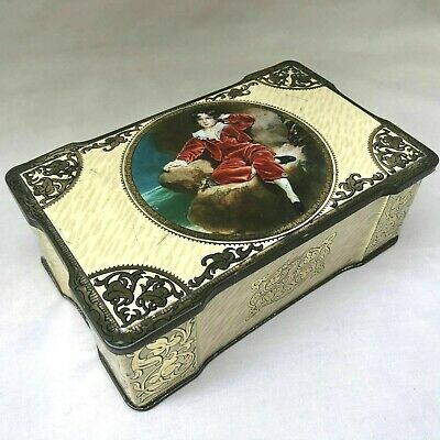 £3 • Buy VINTAGE 1930s SWEET TIN BOX OF RED BOY TOFFEE STAMPED A.S. WILKIN, ADVERTISING