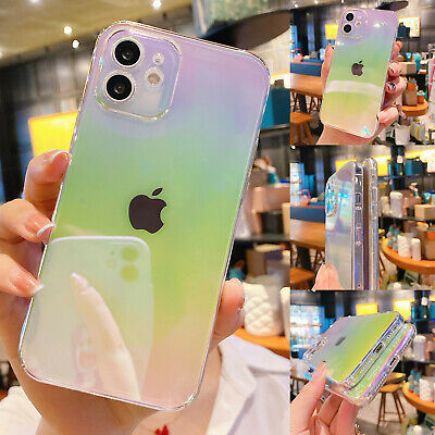 AU10.56 • Buy Case For IPhone 11 12 Pro Max XS Max XR 7 8+ Shockproof Rainbow Silicone Cover