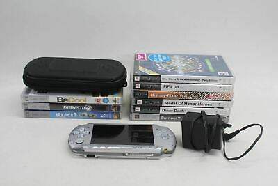 £110.75 • Buy SONY PSP 3003 Silver Handheld Games Console With 6 Games 3 UMD Movies Bundle