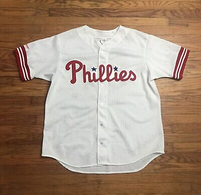 $1.29 • Buy Vintage Philadelphia Phillies Majestic MLB Jersey Stitched Size XL Made In USA
