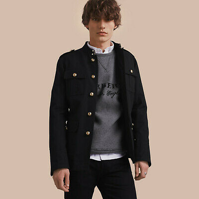 $8.50 • Buy RRP $995 BURBERRY Military Cotton Jacket Black IT48 Ref. Small