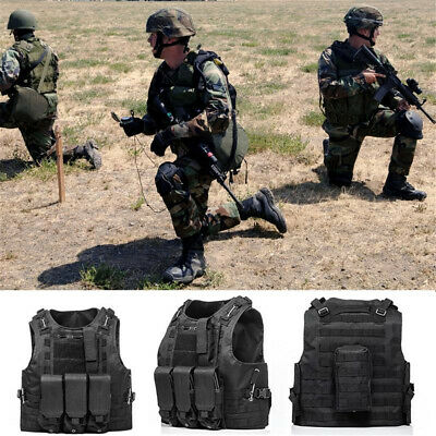 $25.39 • Buy Tactical Military Vest Molle Combat Assault Plate Carrier Airsoft Paintball USA