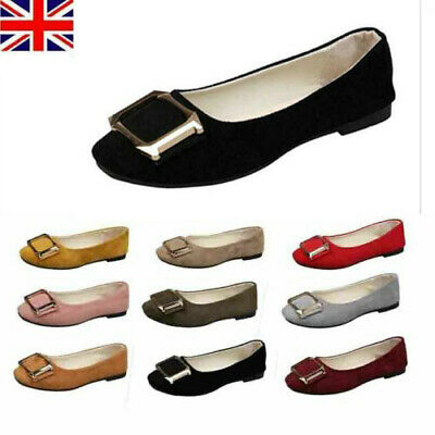 £11.90 • Buy Womens Ballet Ballerina Dolly Pumps Ladies Flat Slip On Loafers Suede Shoes Size