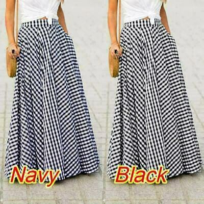 £12.90 • Buy Long Boho Maxi Skirt Lace Summer Lined Hippie Holiday Size 8 10 12 14 16 18 20